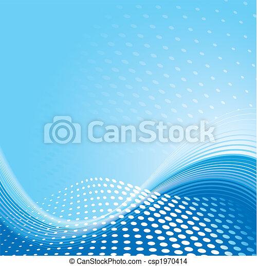 azul, padrão, fundo, onda - csp1970414