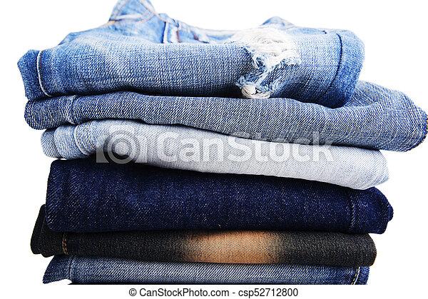 atesorar como una mercancía rara venta caliente barato bien fuera x azul, pantalones, doblado, tela vaquera, ropa, pila, fondo oscuro,  pantalones, vaqueros, blanco