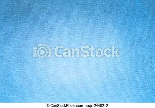 azul, papel, antigas, (horizontal), textura - csp12448212