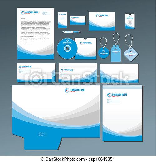Un set de papel azul - csp10643351