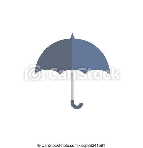 Azul, paraguas, protege, lluvia. Azul, plano, imagen, al aire libre ...