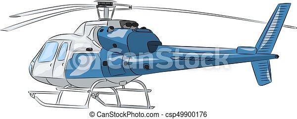 azul, passageiro, helicopter., vector. - csp49900176
