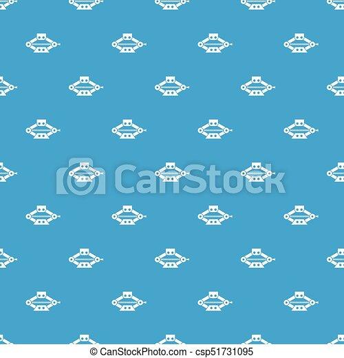 Patrón de tijeras rojas de gato azul sin costura - csp51731095