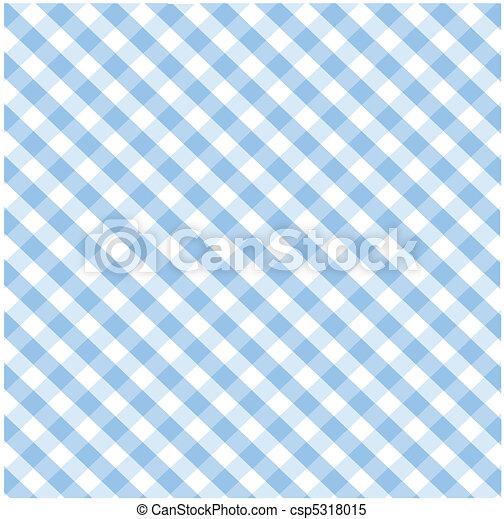 Patrón azul de cuadros sin sese - csp5318015