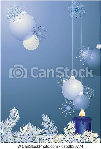 Bolas de Navidad azules - csp0830774
