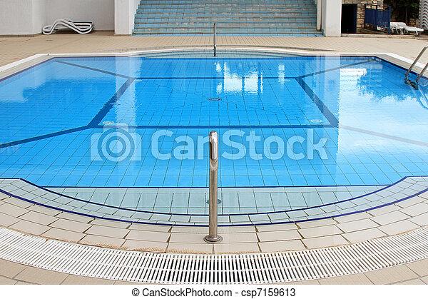 azul, piscina, natación - csp7159613