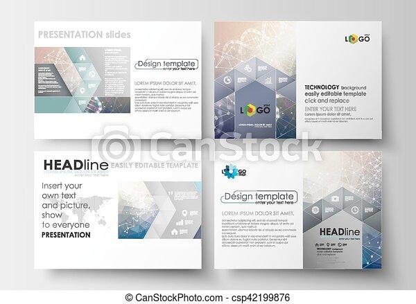 Azul Plantillas Conjunto Adn Científico Empresa Negocio Plano Editable Resumen Slides Molécula Investigación Fondo Disposiciones