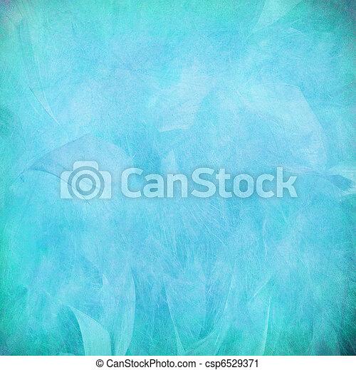Una pluma azul abstracta en papel - csp6529371