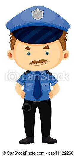 Policía con uniforme azul - csp41122266