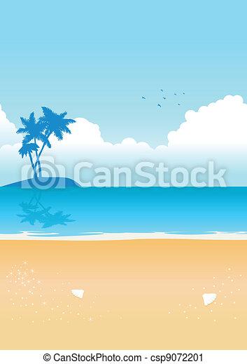 azul, praia - csp9072201