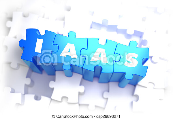 azul, puzzles., palabra, -, iaas, blanco - csp26898271