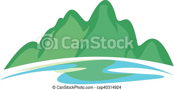 Green Hill y Blue River - csp40314924