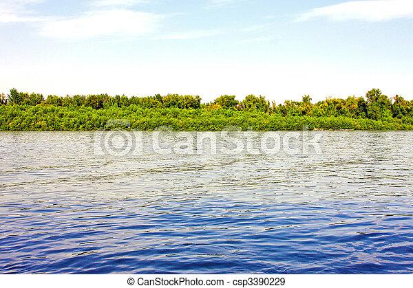 Río azul - csp3390229