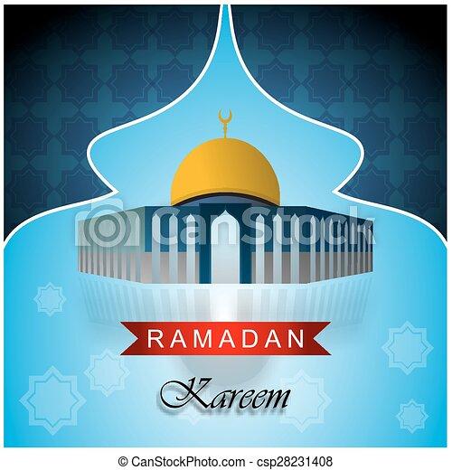 Ramadan kareem azul - csp28231408