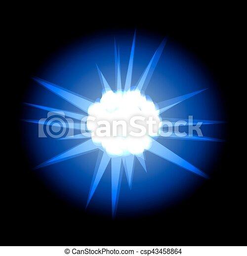 Estrellas con rayos azules en el cosmos espaciales aisladas en la espalda negra - csp43458864