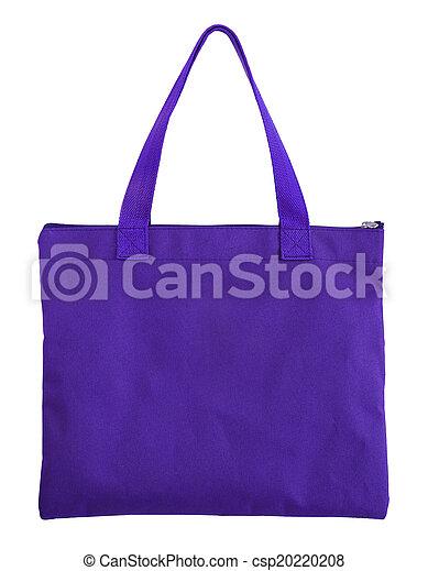 Bolsa de compras azul aislada en fondo blanco con camino de recorte - csp20220208