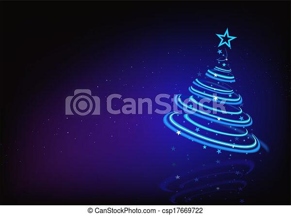 Árbol de Navidad abstracto azul - csp17669722