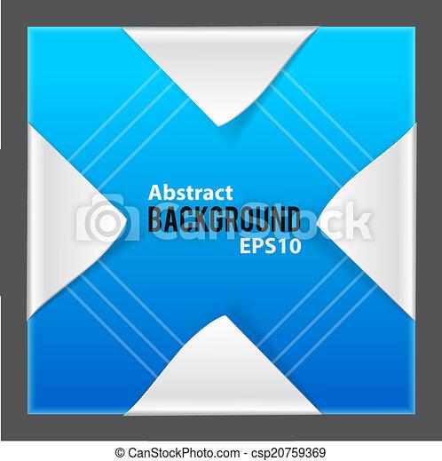 Elementos de papel abstractos sobre fondo azul - csp20759369