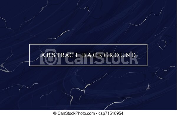 Trasfondo de lujo abstracto con textura de mármol azul oscuro - csp71518954