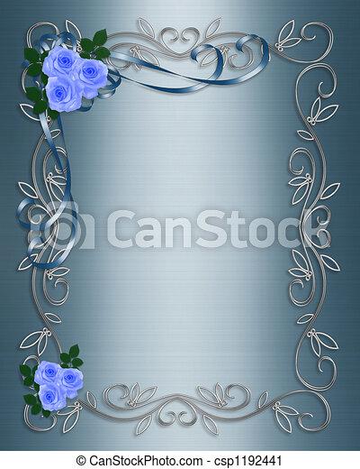 azul, rosas, casório - csp1192441