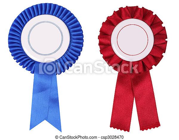 azul, rosettes, cópia, vermelho, espaço - csp3028470