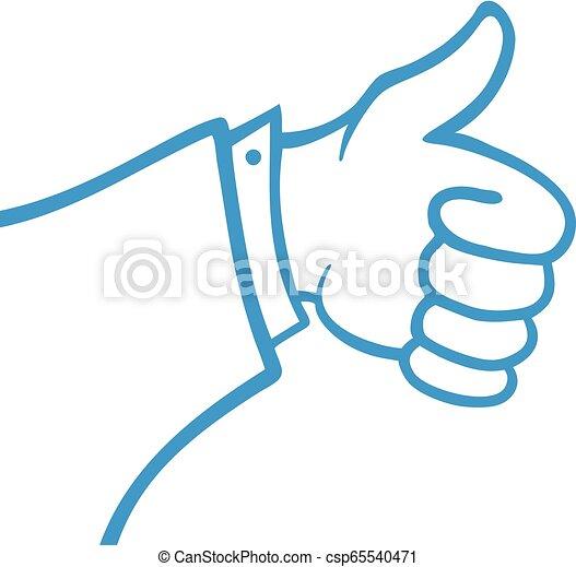 Como símbolo de mano azul - csp65540471