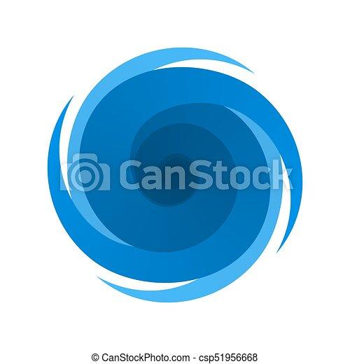 Simbolo azul, signo de tormenta, huracán - csp51956668