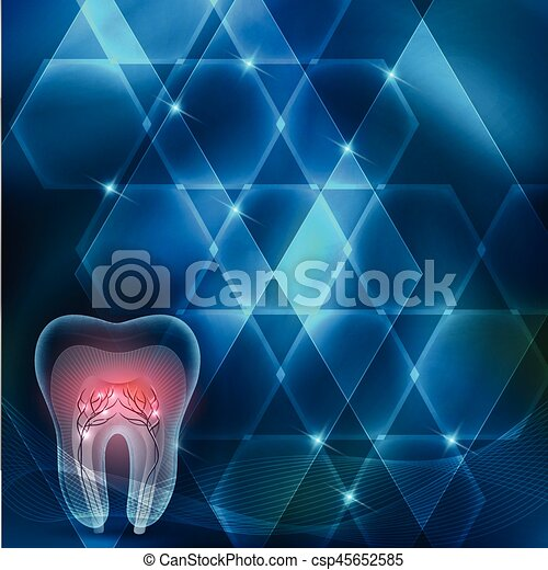 El diseño azul abstracto de la sección de dientes cruzados - csp45652585