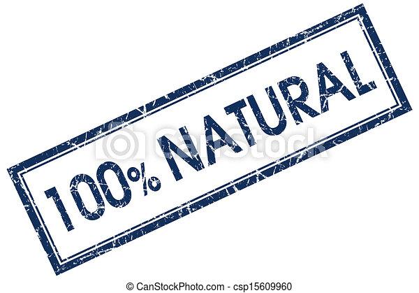 azul, selo, 100%, quadrado, natural - csp15609960