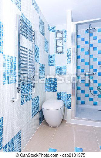 Un baño azul - csp2101375