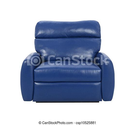 Un sillón de lujo azul aislado - csp10525881