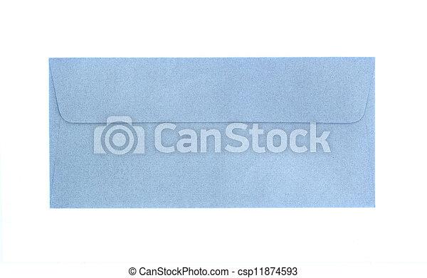azul, sobre blanco, aislado - csp11874593