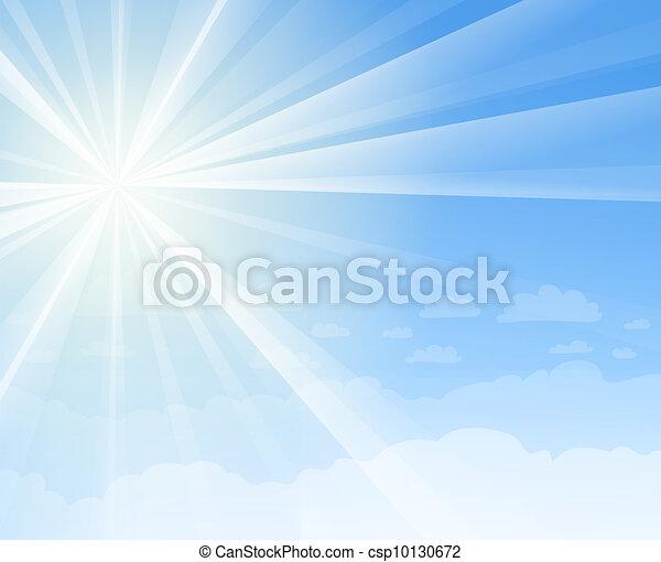 azul, sol, céu - csp10130672
