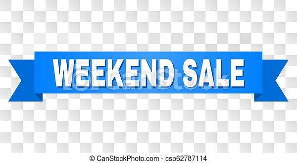 Un lazo azul con el fin de semana - csp62787114
