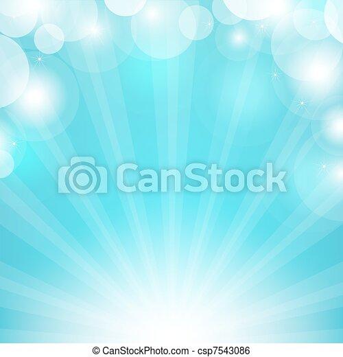 azul, sunburst - csp7543086