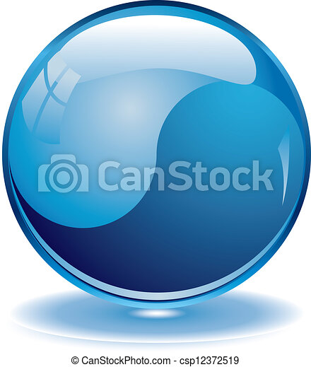 Botones azules en blanco - csp12372519