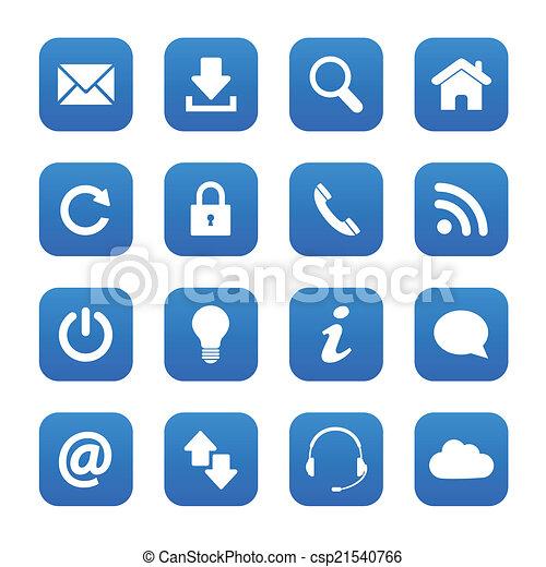 Botones de telaraña azul - csp21540766