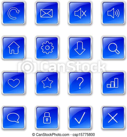 Botones de telaraña azul - csp15775800