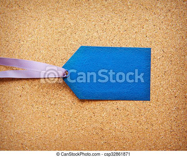 azul, texto, etiqueta, espacio - csp32861871