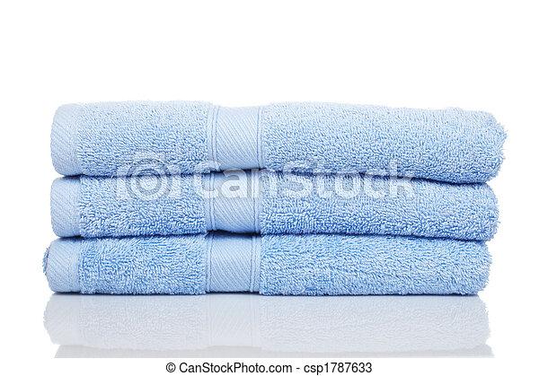 azul, toalhas - csp1787633