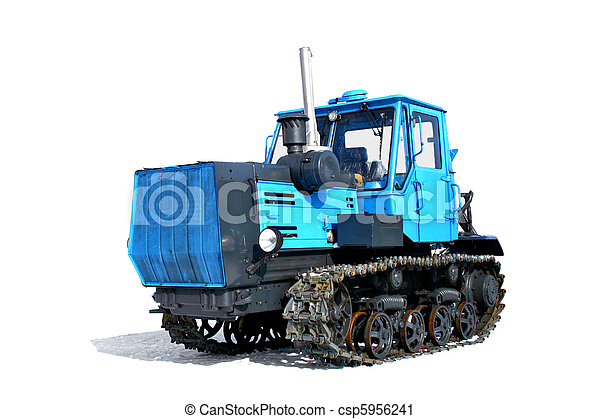 Un tractor azul - csp5956241