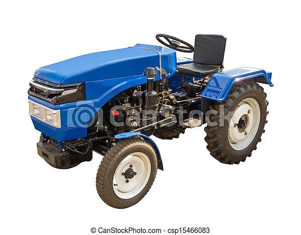 Un tractor azul - csp15466083
