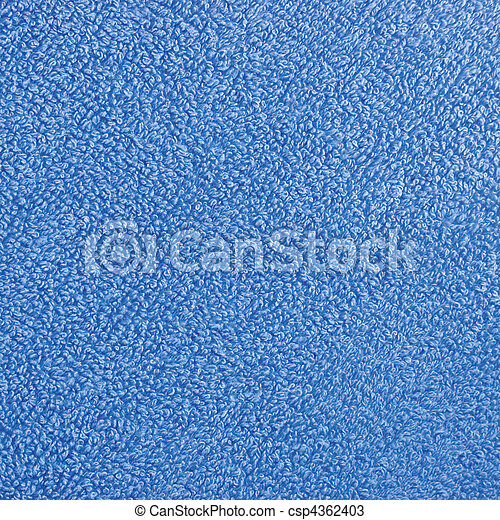 Toalla de baño turkish azul felpa azul, primer plano de fondo macro - csp4362403