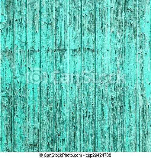 Vieja turquesa azul fondo de madera. Textura chic regordeta - csp29424738