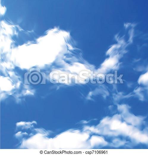 azul, vector, cielo, clouds. - csp7106961