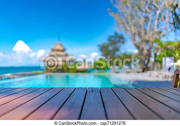 Azul Vendimia Cielo Madera Océano Terraza Plano De Fondo Mar Playa