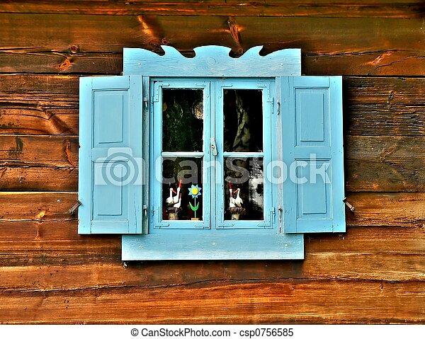 Una ventana azul - csp0756585