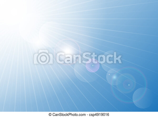 azul, verão, céu - csp4919016