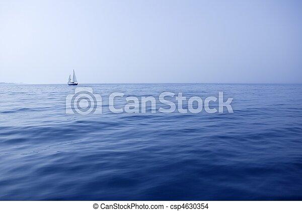azul, verano, navegación, velero, vacaciones, superficie, océano, mar - csp4630354