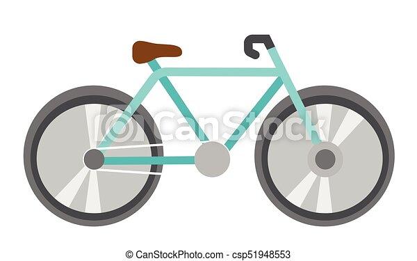 azul, vetorial, bicicleta, caricatura, illustration. - csp51948553